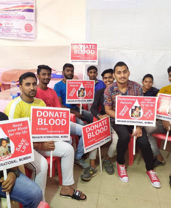 NSS – Blood Donation camp at Andheri railway station
